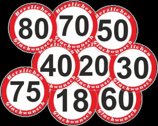 geburtstagsschild-18-20-30-40-50-60-65-70-75-80 ...